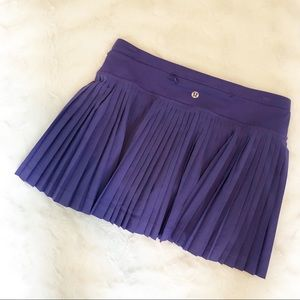 Lululemon Pleat to Street Purple Tennis Skirt
